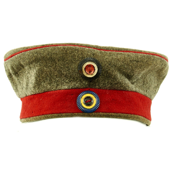 Original Imperial German WWI M1907 Feldmütze Field Cap with Mecklenburg Cockade
