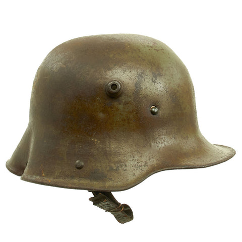 Original Imperial German WWI M16 Stahlhelm Helmet Shell with Battle Damage - marked B.F 62. Original Items