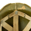 show larger image of product view 10 : Original U.S. WWII 1942 M1 McCord Fixed Bale Front Seam Helmet with Rare Hawley Paper Liner Original Items
