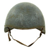 show larger image of product view 2 : Original U.S. WWII Navy USN MK2 Talker Flak Gunner Helmet with Chinstrap Original Items