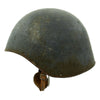 show larger image of product view 5 : Original U.S. WWII Navy USN MK2 Talker Flak Gunner Helmet with Chinstrap Original Items