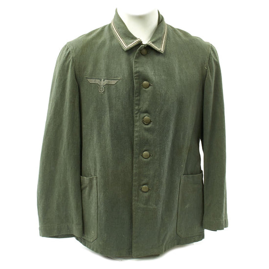 Original German WWII Army Sergeant HBT Drilljacke - 1941