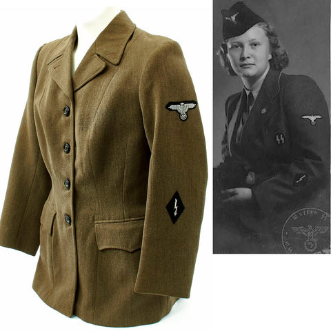 Original German WWII SS-Helferinnen Female Auxiliaries Uniform Tunic Original Items