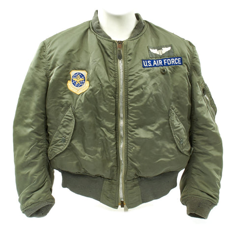 Original U.S. Cold War Colonel Flight Medic 417th Tactical Fighter Squadron MA1 Flying Jacket and Flight Suit Original Items