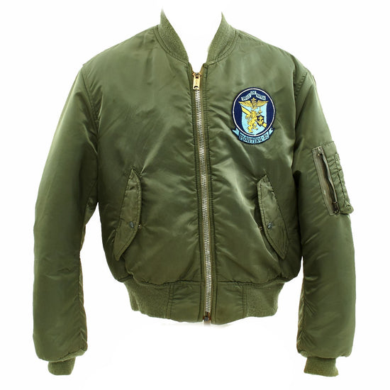 "Original 1970s U.S. Navy Fighter Squadron 32 VF-32 MA1 Type Flight Jacket - The ""Fighting Swordsmen"" Original Items"