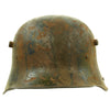 show larger image of product view 3 : Original Imperial German WWI M16 Stahlhelm Helmet Shell with Panel Camouflage Paint - marked Q.66 Original Items