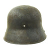 show larger image of product view 6 : Original Imperial German WWI M16 Stahlhelm Helmet Shell with Panel Camouflage Paint - marked Q.66 Original Items
