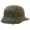show larger image of product view 2 : Original Imperial German WWI M16 Stahlhelm Helmet Shell with Panel Camouflage Paint - marked Q.66 Original Items