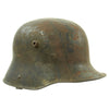 show larger image of product view 4 : Original Imperial German WWI M16 Stahlhelm Helmet Shell with Panel Camouflage Paint - marked Q.66 Original Items
