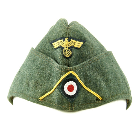 Original German WWII Kriegsmarine Coastal Artillery M38 Overseas Wool Cap size 58 1/2 Original Items