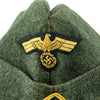 show larger image of product view 3 : Original German WWII Kriegsmarine Coastal Artillery M38 Overseas Wool Cap size 58 1/2 Original Items