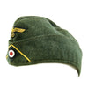 show larger image of product view 8 : Original German WWII Kriegsmarine Coastal Artillery M38 Overseas Wool Cap size 58 1/2 Original Items
