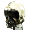 show larger image of product view 2 : Original British Royal Navy MK 2 Flying Helmet with Visor, Headset, Mic, and Oxygen Mask Original Items