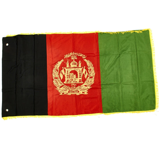 Original U.S. Operation Enduring Freedom OEF Transitional Islamic State of Afghanistan National Flag – USGI Bringback Original Items