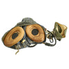 show larger image of product view 18 : Original British Post WWII RAF MK-1A Flight Helmet with Visors - Oxygen Mask - Storage Case Original Items