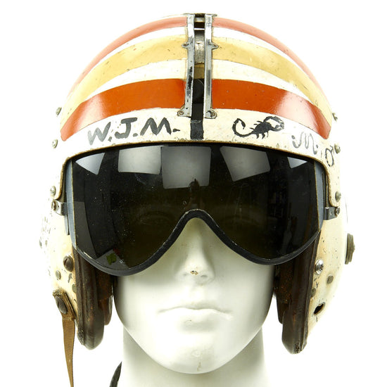 Original U.S. Vietnam War Pilot APH-6A Flight Helmet - Scorpion Original Items