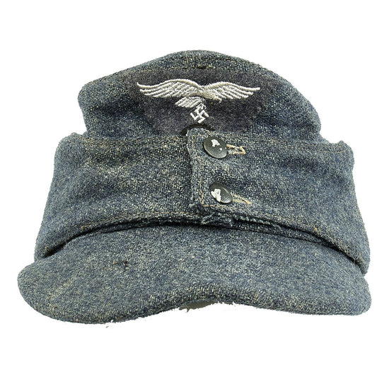 Original German WWII Luftwaffe M43 Einheitsmütze Wool Field Cap - size 56cm Original Items