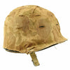 show larger image of product view 5 : Original U.S. Late WWII Korean War M1 Helmet with USMC HBT Camouflage Cover and Firestone Liner Original Items
