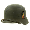 show larger image of product view 7 : Original Austrian WWI M17 Helmet Converted WWII German SS with Double Paper Decals - Size 66 Original Items