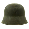 show larger image of product view 8 : Original Austrian WWI M17 Helmet Converted WWII German SS with Double Paper Decals - Size 66 Original Items