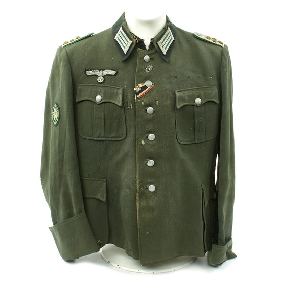 Original German WWII Gebirgsjäger 136th Regiment 2nd Gebirgsjäger Division Officer M1940 Fedlbluse Uniform Tunic