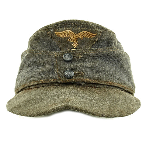Original German WWII Luftwaffe Service Worn M43 Einheitsmütze Wool Field Cap - size 55cm Original Items