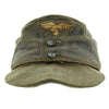 show larger image of product view 1 : Original German WWII Luftwaffe Service Worn M43 Einheitsmütze Wool Field Cap - size 55cm Original Items