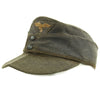 show larger image of product view 3 : Original German WWII Luftwaffe Service Worn M43 Einheitsmütze Wool Field Cap - size 55cm Original Items