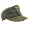 show larger image of product view 7 : Original German WWII Luftwaffe Service Worn M43 Einheitsmütze Wool Field Cap - size 55cm Original Items
