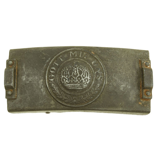 Original Imperial German WWI Prussian Steel Signal Telegraph Troop EM-NCO Belt Buckle Original Items