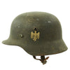 show larger image of product view 1 : Original German Pre-WWII Army Heer M35 Single Decal Steel Helmet with 1937 dated Liner - Size 64 Original Items