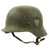 show larger image of product view 2 : Original German Pre-WWII Army Heer M35 Single Decal Steel Helmet with 1937 dated Liner - Size 64 Original Items