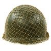 show larger image of product view 3 : Original U.S. WWII 1944 M1 McCord Swivel Bale Front Seam Helmet with Firestone Liner and Helmet Net Original Items