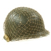 show larger image of product view 4 : Original U.S. WWII 1944 M1 McCord Swivel Bale Front Seam Helmet with Firestone Liner and Helmet Net Original Items