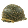 show larger image of product view 1 : Original U.S. WWII 1944 M1 McCord Swivel Bale Front Seam Helmet with Firestone Liner and Helmet Net Original Items