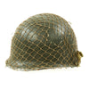 show larger image of product view 6 : Original U.S. WWII 1944 M1 McCord Swivel Bale Front Seam Helmet with Firestone Liner and Helmet Net Original Items
