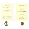 show larger image of product view 1 : Original German WWII Black Wound Badge & Silver Infantry Assault Badge with Named Award Documents - Dated 1944 Original Items