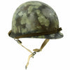 show larger image of product view 1 : Original U.S. Operation Desert Storm Iraqi M1 Steel Helmet with Camouflage Paint Original Items