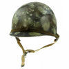 show larger image of product view 7 : Original U.S. Operation Desert Storm Iraqi M1 Steel Helmet with Camouflage Paint Original Items