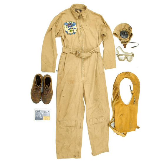 Original U.S. WWII U.S. Navy VB-75 Bomb Squadron Flight Uniform Grouping - Vee Bee Bombing Bees