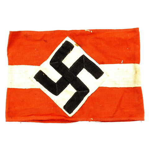 Original German WWII Field Used Hitler Youth Member Armband - Hitlerjugend Original Items