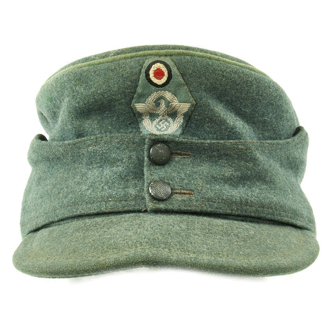 Original German WWII NSDAP Civic Police M43 Feldmütze Field Cap Original Items