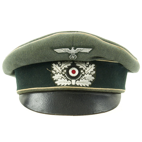 Original German WWII Army Heer EM/NCO Infantry Visor Crush Cap by H. Wiemeyer - Size 58 Original Items