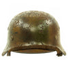 show larger image of product view 3 : Original German WWII Normandy Camouflage M40 Helmet with Unit Markings and 56cm Liner - Q64 Original Items