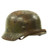 show larger image of product view 4 : Original German WWII Normandy Camouflage M40 Helmet with Unit Markings and 56cm Liner - Q64 Original Items