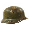 show larger image of product view 2 : Original German WWII Normandy Camouflage M40 Helmet with Unit Markings and 56cm Liner - Q64 Original Items