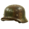 show larger image of product view 5 : Original German WWII Normandy Camouflage M40 Helmet with Unit Markings and 56cm Liner - Q64 Original Items