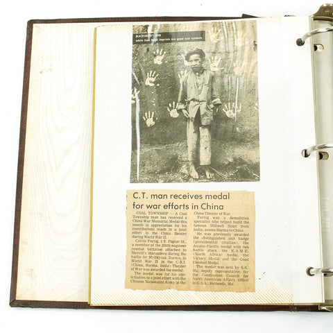 Original U.S. WWII Merrill's Marauders Named Photo Album Scrapbook Original Items