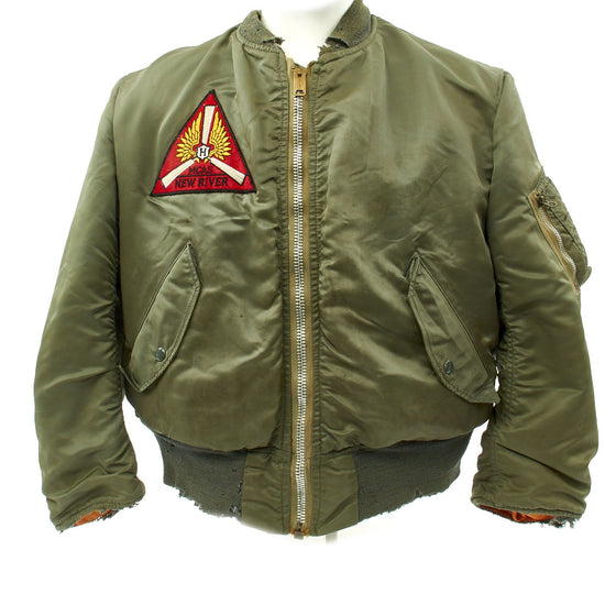 Original U.S. Vietnam War Marine Corps Air Station New River MA1 Type Flight Jacket Original Items
