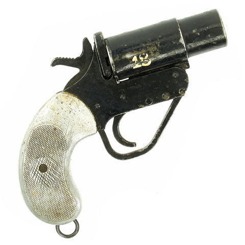 Original British WWII Molins No.2 Mk.5 Flare Signal Pistol for Armored Fighting Vehicles - Serial 019391 Original Items